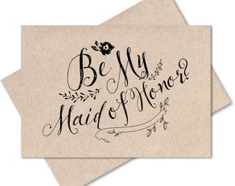 Rustic wedding, will you be my maid of honor, recycled wedding, rustic style flower girl card from bride engagement bridesmaid wedding party