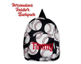 Baseball Toddler Backpack - Personalized school bag