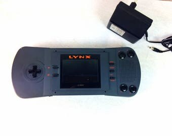 Atari Lynx - Tested and Working - Atari Lynx PAG-0200 - with Battery Adapter
