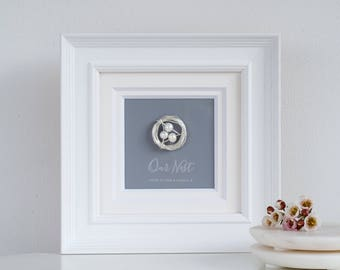 Our Nest frame - Mothers day gift for mum best seller box frame pearls beautiful personalised