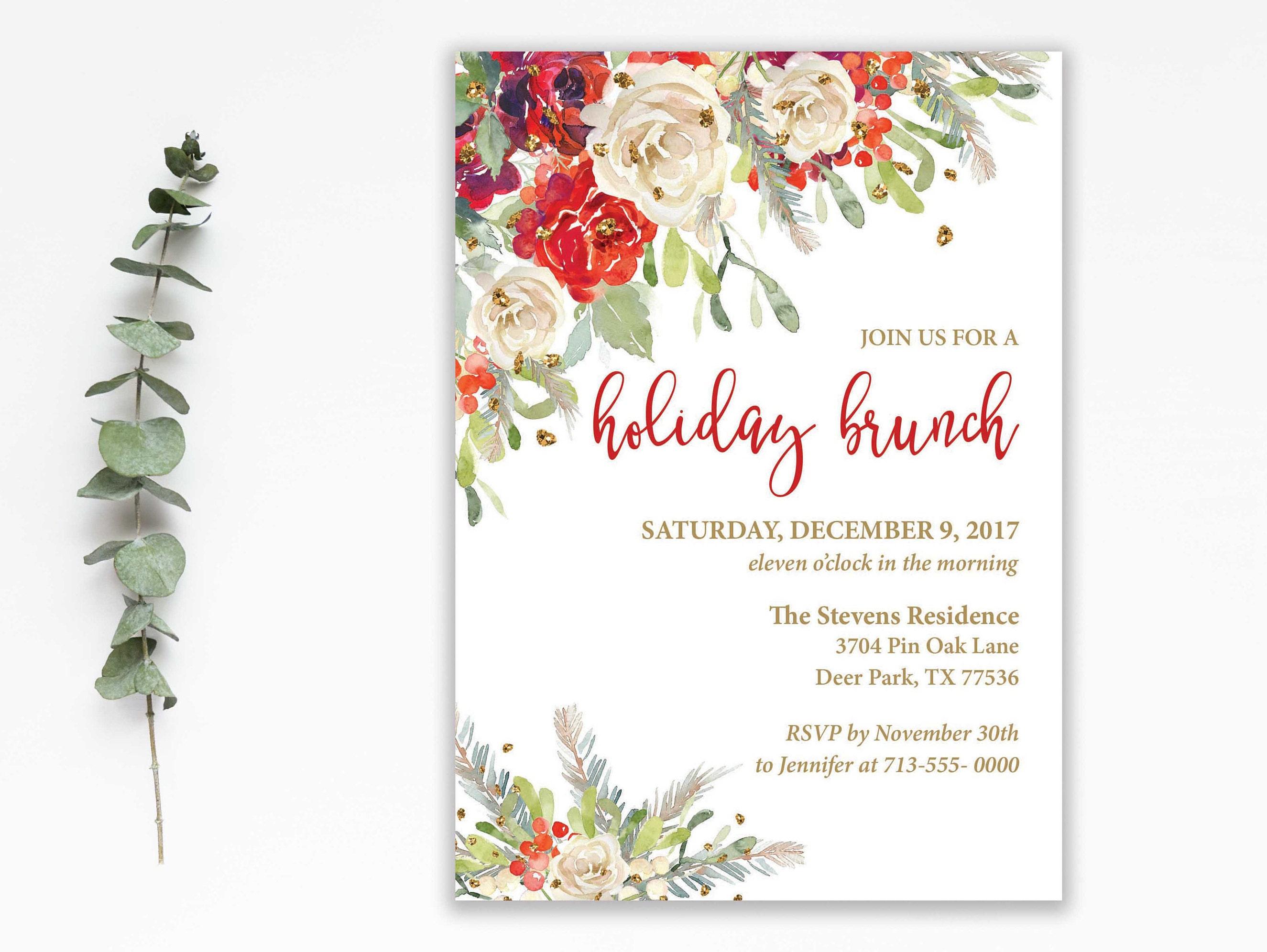 holiday brunch invitation christmas party invitation holiday