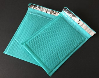 25 6x9 Light Teal  Bubble Mailers Size 0 Self Sealing Shipping Envelopes Spring Easter