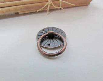 4 handle box, 2 cm in diameter - 407.38 copper metal hook
