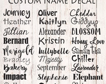 Custom Name Decal, Personalized Name Label, Name Sticker, Vinyl Name Decal, Name Decal Yeti, Custom Vinyl Lettering