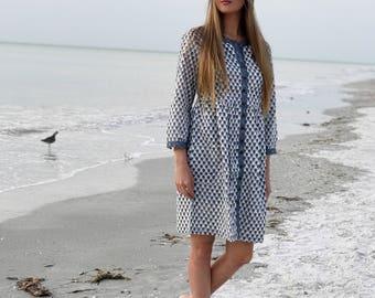 Long Sleeve Cotton Summer Dress