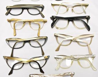 SET of 11 Vintage CAT EYE Eyeglasses (lot 130)