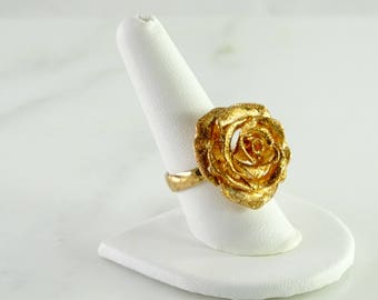 Rose Gilt over Sterling Silver Ring Size 9