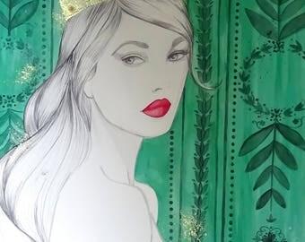 The Queen - Original Watercolor