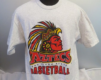 San Diego State Aztecs Basketball Shirt (VTG) -By Champion - Men's Large