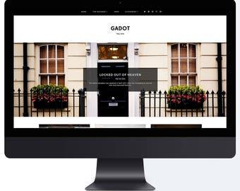 Gadot | Responsive Blogger Template + Free Installation