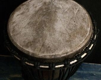 Beautiful Large Solid Black Djembe Drum