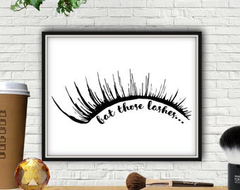Bat Those Lashes, Makeup Print, Lash Decor, Lash Sign, Eyelashes, Eyelash Print, Eyelash Wall Art, Vanity Decor, Makeup Decor, Eye Lashes