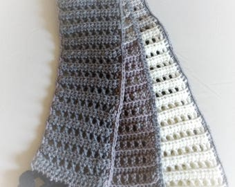 Fringed Double Crochet Scarf