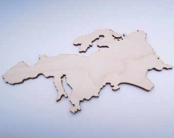 Wooden Europe Map for Crafts - Laser Cut