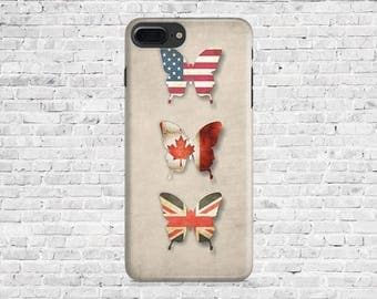 10% Off Case.Printed Butterflies covers - iPhone Cases: iPhone 7 Plus/ iphone 7, iPhone 6/6s/6+, 6+s, 5/5S. Printed IPhone case.