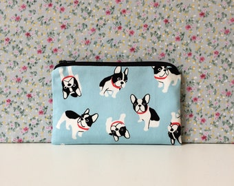 Frenchie Print Coin Purse