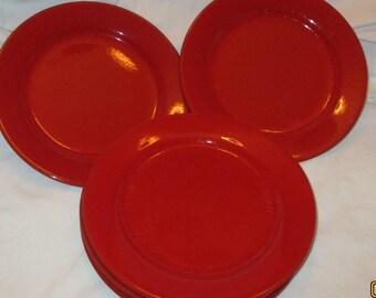 Waechtersbach Red Fun Factory Salad Plates Set 5