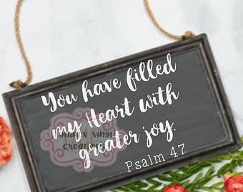 You have filled my heart with greater joy SVG/DXF/EPS file