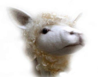 JX913E – Sheep – Trophy Head - PDF Cloth Animal Doll Sewing Pattern
