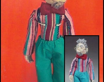 KK777E – DAPPER DOUG -  Male Cloth Doll Making Sewing Pattern, PDF Download