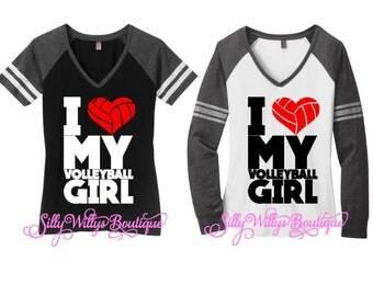 Volleyball mom shirt, I love my volleyball girl shirt, Volleyball mom top, Volleyball Heart shirt, Volleyball shirt, Volleyball heart