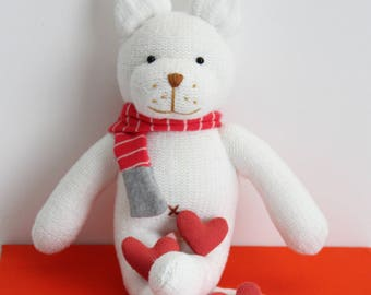 A Cute Handmade Cat Doll. Animal handmade doll. Textile doll, Home Decoration doll, Animal toy. Good Gift For Cool Friends.