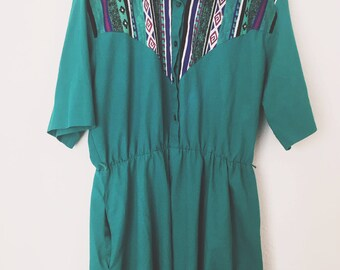 Vintage 80s Southwest Tap&Co Maxi Dress