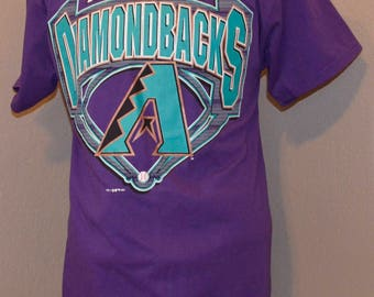Arizona Diamondbacks Logo 7 Shirt Throwback Purple L Large Cotton Blend