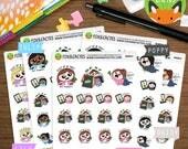 Shopaholic Kawaii Girls - Shopping Payday Money Sticker Set - Planner Stickers (K0053)