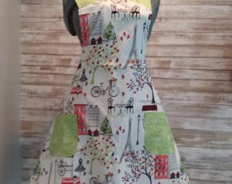 Paris in Spring- with green vintage pockets