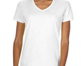 Women's White Blank T-Shirt with Fringe Options