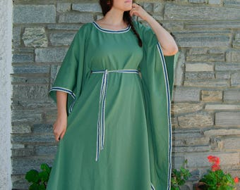 Green Medieval fantasy dress