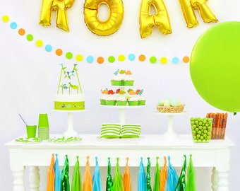 Dinosaur Birthday Party Package, Dinosaur party theme, Complete dinosaur party in a box, Dinosaur party decorations, Dinosaur party supplies