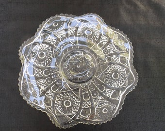 Eapg Imperial Glass co No.505 BELLAIRE 13 inch Plate