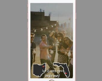 Farewell Geofilter Travel - Going Away Geofilter - State Geofilter