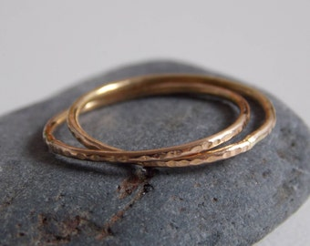 rose gold interlace rings. Very fine 2 interlace rings made of rose gold