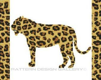 Jaguar Graph Chart Afghan Crochet Pattern Wild Jaguar Graphgan Afghan Crochet Pattern PDF Instant Download