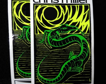 Vintage 1980s Chris Miller Gordon And Smith Skateboard Sticker MINT Super Sharp GS Surf