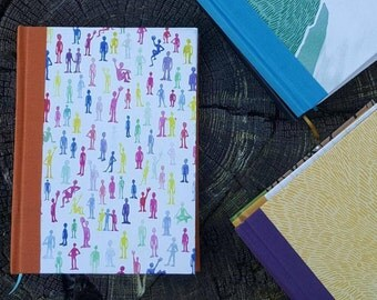 Handmade Journal - A5 - with Fabric Bag and pencil - Perfect gift!