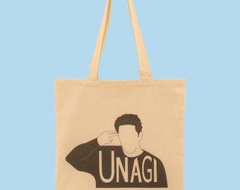 """Tote Bag Organic Cotton Ecru """"UNAGI"""" - Friends TV Show"""