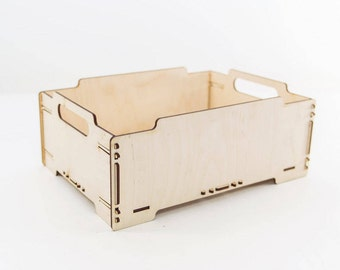 Wooden Crate - Storage Box - Wooden Box - Wood Crate - Toy Storage - Album Storage - Storage Crate - Vinyl Records Storage - Dog Toy Box