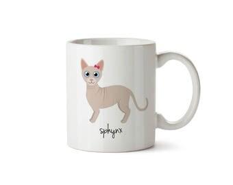 Sphynx Cat Mug (girl)
