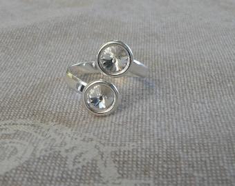 "Silver ring ""Swarovski Crystal"""