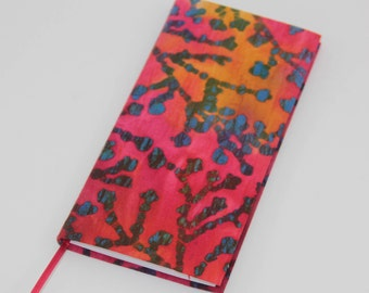 2018 Slim Pocket Diary Hand Covered in contemporary wax print batik fabric
