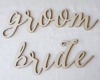Sale! Chair Sign Bride and Groom, Wedding, Bride Groom, Chair Sign