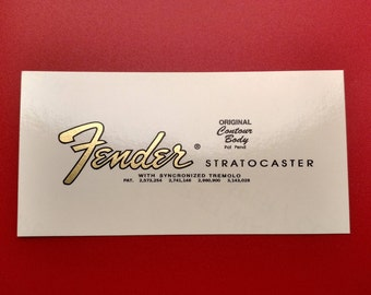Fender Stratocaster 65' Transition Restoration Decal in Metallic Gold or Brown - Two with each order