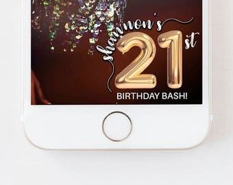 Birthday Snapchat Filter, Birthday Filter, 30th birthday for her, Birthday Snapchat Geofilter Birthday Gift for him, Snap Chat Decorations