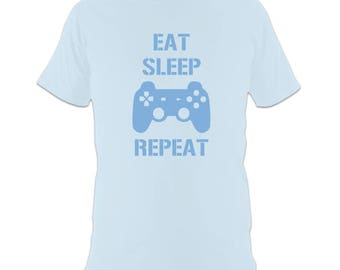 Video Game T-Shirt - 'Eat Sleep Play Repeat'