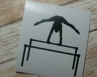 Decals/Monograms/Parallel Bars Decal/Gymnast Monograms/ Uneven Bars Decal/Asymmetric Bars Decal/Yeti Decal/Gymnastics