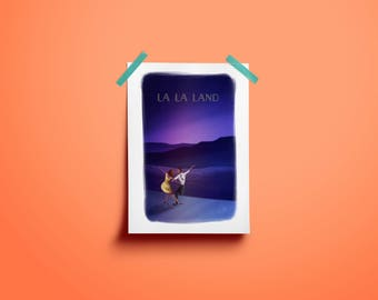 Lala Land Lovely Night Illustration - Art Print